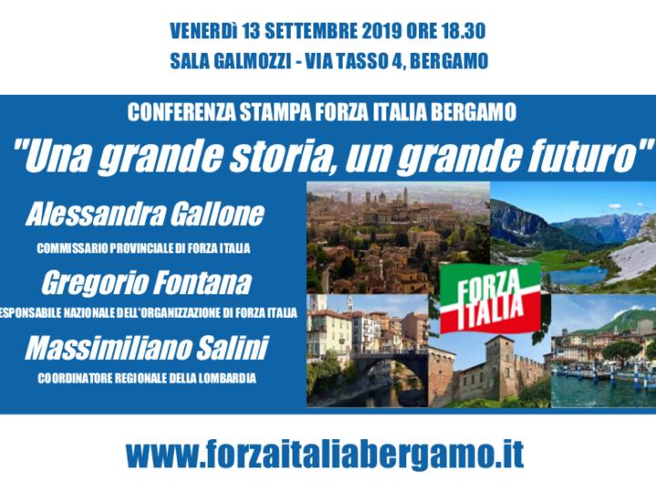"""Conferenza stampa Forza Italia Bergamo: """"Una grande storia, un grande futuro"""""""
