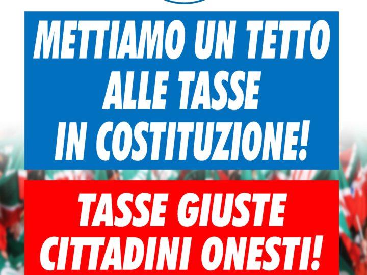 """Alessandra Gallone e Gregorio Fontana: """"Forza Italia lancia la proposta per inserire nella Costituzione un limite all'imposizione fiscale. Domani in piazza a Bergamo e in tutta Italia."""""""