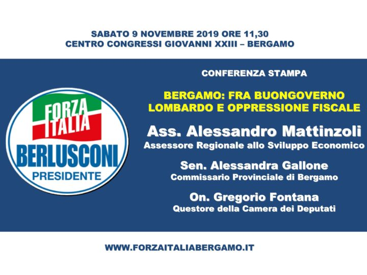 """Conferenza stampa """"Bergamo: fra buongoverno lombardo e oppressione fiscale"""""""