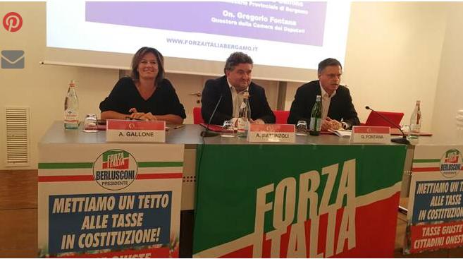"""Forza Italia: """"Bergamo, fra buongoverno lombardo e oppressione fiscale"""""""