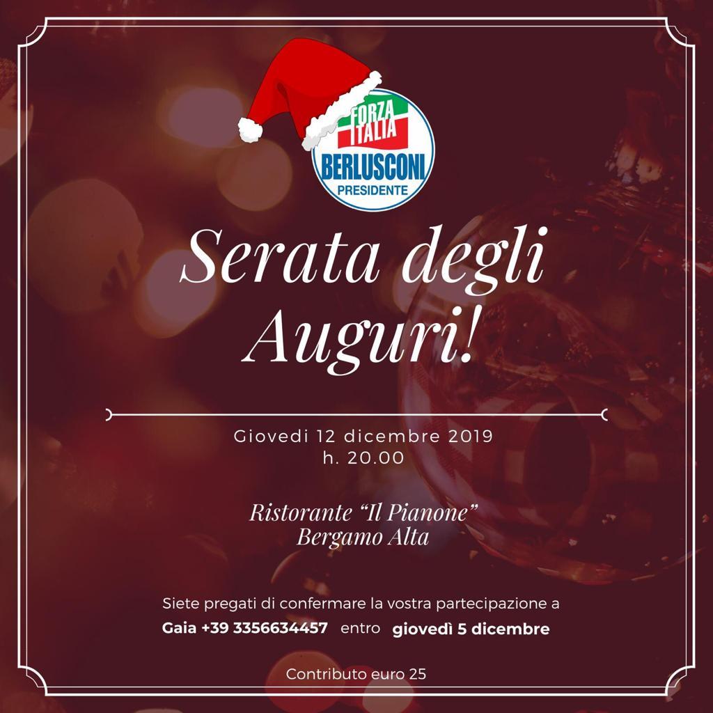 Invito Serata degli Auguri – Bergamo 12 dicembre 2019