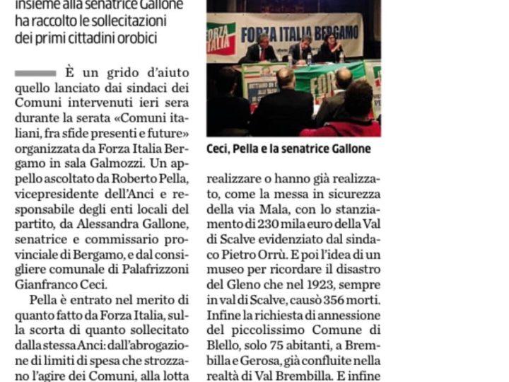 Forza Italia, i sindaci chiedono più risorse per il territorio