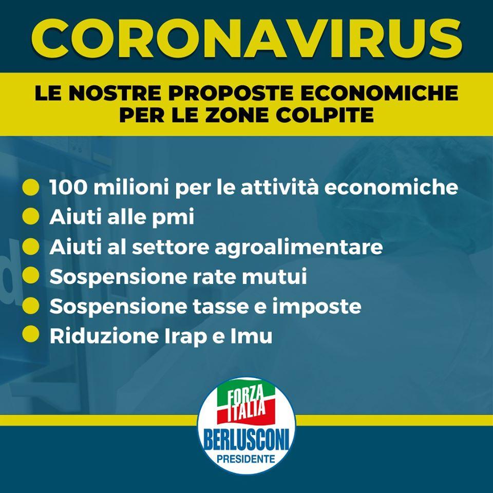 Coronavirus, le nostre proposte economiche per le zone colpite
