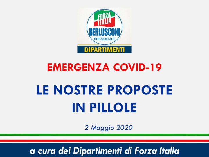 Le proposte di Forza Italia per affrontare e vincere l'emergenza Covid-19 riassunte in pillole