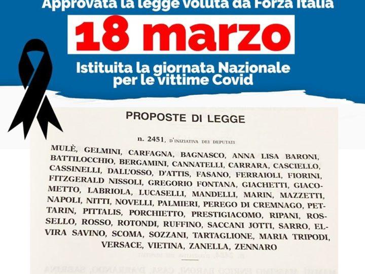 """Coronavirus, Fontana e Gallone (FI): """"18 marzo, giornata nazionale per le vittime Covid"""""""