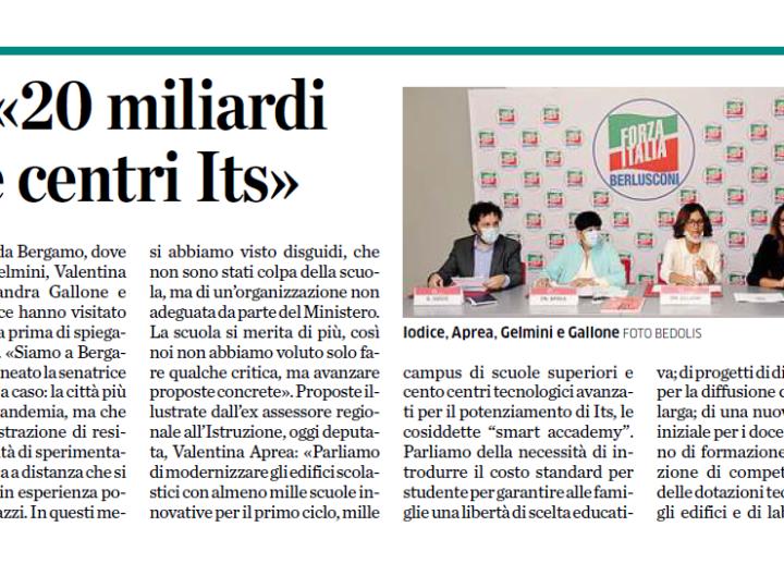 Forza Italia: «20 miliardi per campus e centri Its»