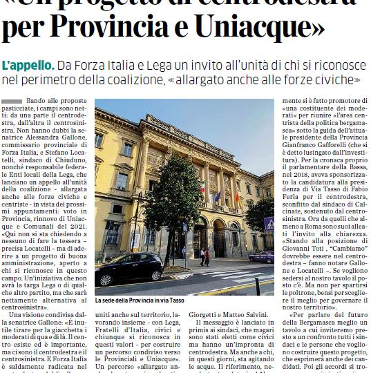 Da Forza Italia e Lega un appello per l'unità del centrodestra