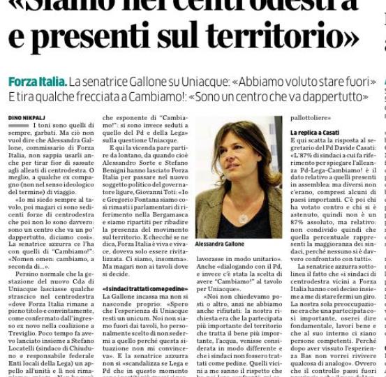 """Alessandra Gallone (FI): """"Siamo nel centrodestra e presenti sul territorio"""""""