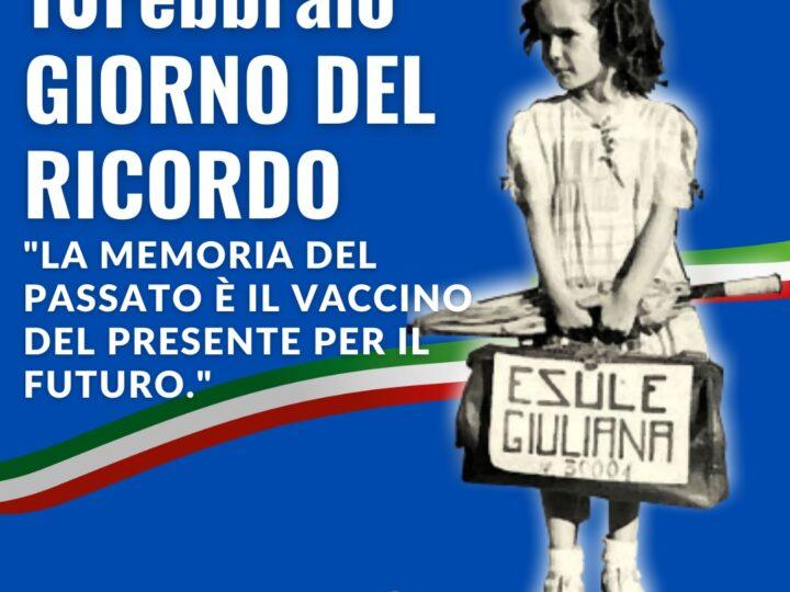 """Giorno del ricordo, Gallone (FI): """"La memoria del passato è vaccino del presente per il futuro"""""""