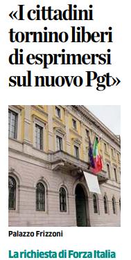 Città di Bergamo, Forza Italia: «I cittadini tornino liberi di esprimersi sul nuovo Pgt»