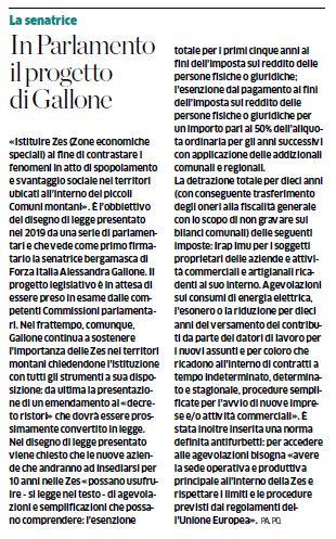 La proposta di Forza Italia: fisco agevolato per le valli bergamasche