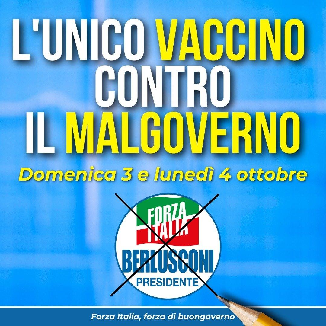 Le liste di Forza Italia alle elezioni amministrative 3-4 ottobre 2021